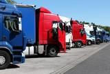LKW auf Autobahnrastplatz - 49649418