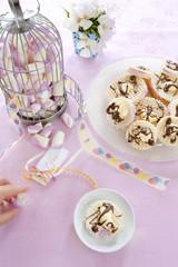 wafle marshmallow piankowy deser
