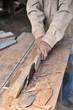 Wood cutting with circular saw