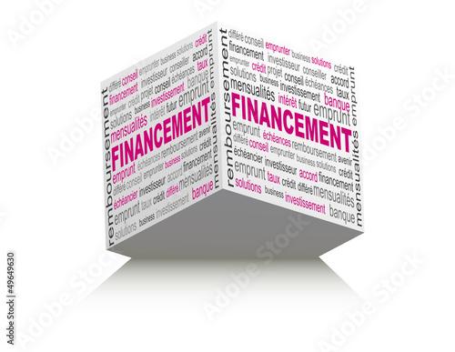 cube nuages de mots financement