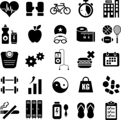 Health and wellness icons