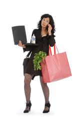 femme débordée par multitude de tâches