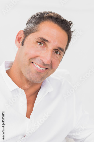 Man smiling at camera
