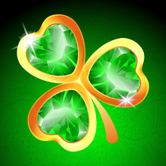 Jewelry shamrock background