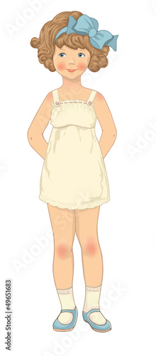 Paper doll, girl body template