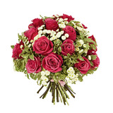 Fototapety bouquet of pink roses isolated on white
