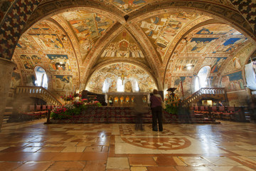 Assisi Dome Saint Francis Church interior view