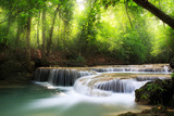 Fototapety Deep forest waterfall