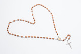 Rosary beads in a heart shape