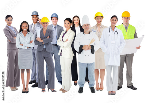 Diverse group of workers