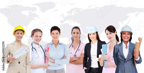 Happy women workers
