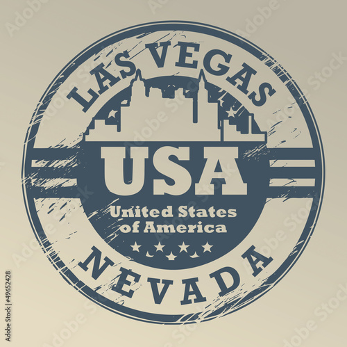Grunge rubber stamp with name of Nevada, Las Vegas, vector