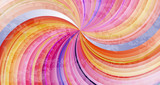 Abstract colorful twisted rays vector background.