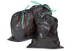 garbage bags on white