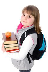 Young schoolgirl portrait