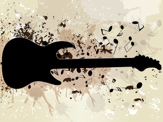 grunge musical background theme
