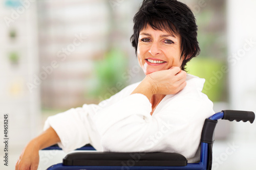 middle aged woman recovering from sickness