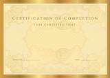 Golden Certificate / diploma of completion (template)