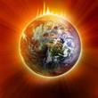 Apocalyptic view of planet earth - 49659821
