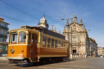 street tram in Porto, Portugal