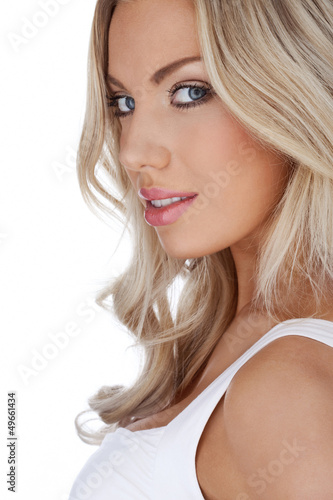Portrait of a beautiful blonde
