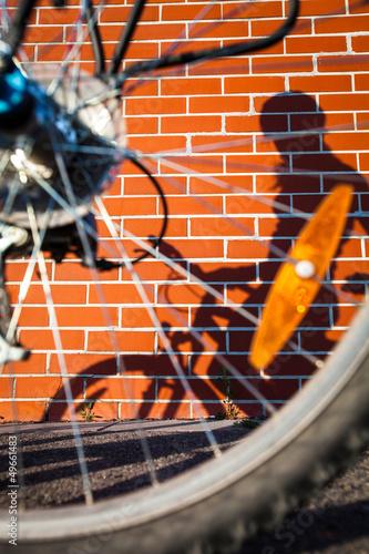 Female biker!s shadow