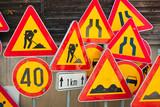 Roadwork signs - 49661618