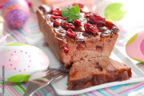goose pate with cranberries