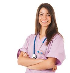Young smiling nurse portrait
