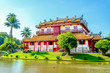 Leinwanddruck Bild - Wehart Chamrunt Palace in Bang Pa-In Palace, Ayutthaya, Thai