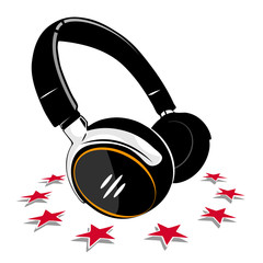 Simple Headphones and stars