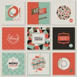 Restaurant menu designs. Collection of retro-styled vectors