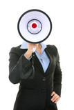 Megaphone business person concept