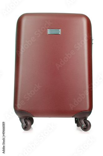 Travel luggage isolated on the white background