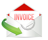 invoice Concept representing email poster