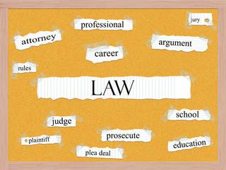 Law Corkboard Word Concept