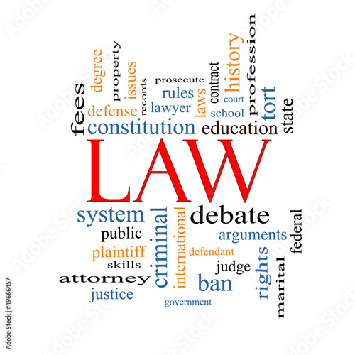 Law Word Cloud Concept