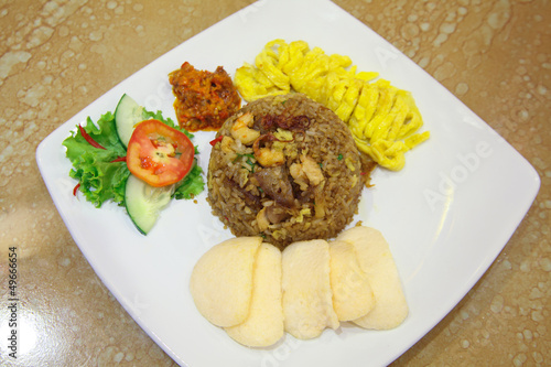 popular indonesian asian food called nasi goreng