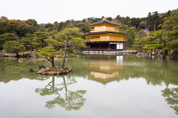 Kinkakuji Temple or The Golden Pavilion in Kyoto