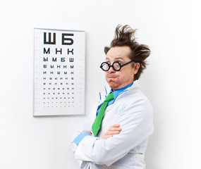 Crazy optometrist