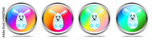 Easter buttons with bunny