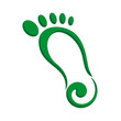 foot stylized logo