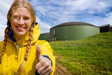 Daumen hoch zum Biogas !