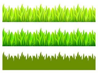 Reflected vector grass pattern