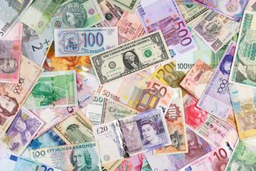 Geldscheine bilden einen Hintergrund