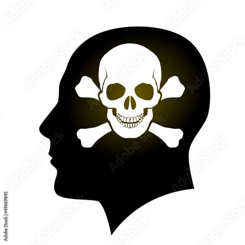 Skull and Crossbones in head