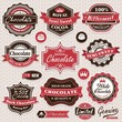 Collection of vintage retro Chocolate labels, badges and icons