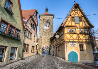 The Plonlein, Rothenburg ob der Tauber, Germany