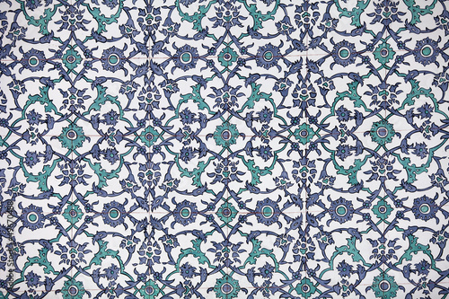 Handmade Tiles. Topkapi Palace in Istanbul,Turkey