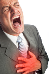 heart attack of a businessman